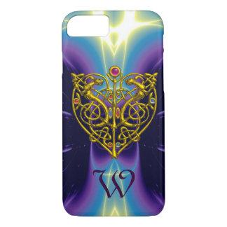 HYPER VALENTINE MONOGRAM  Purple Blue iPhone 7 Case