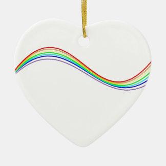 hyperbole rainbow ceramic ornament