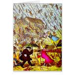Hyperbole Raining Cats and Dogs Greeting Card