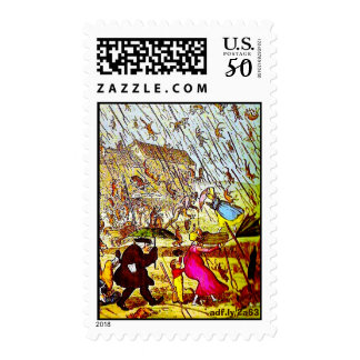 Hyperbole - Raining Cats and Dogs Postage Stamps