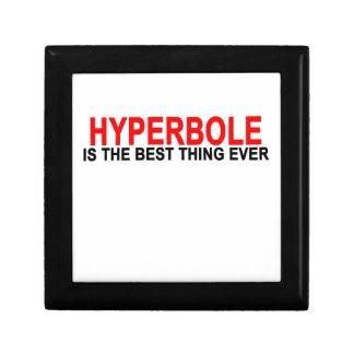 Hyperbole The best thing ever T-Shirts.png Keepsake Box