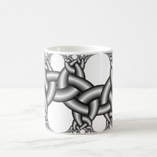 Hyperbolic ribbons 2∞3 coffee mug