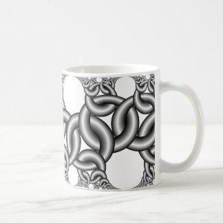 Hyperbolic ribbons 3∞2 coffee mug