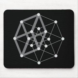 hypercube dark mouse pad
