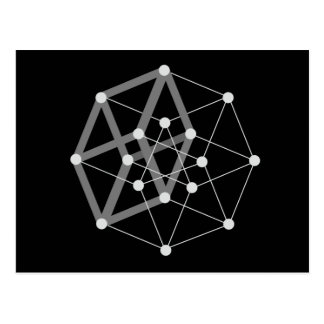 hypercube dark postcard
