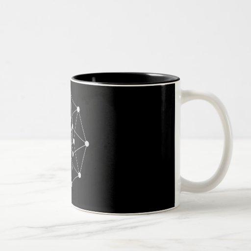 hypercube dark Two-Tone coffee mug
