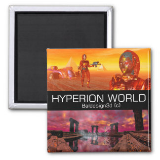HYPERION WORLD SCIENCE FICTION Scifi Magnet