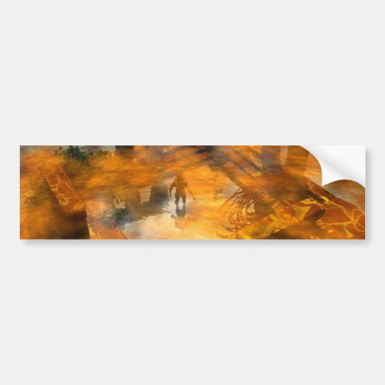 HYPERION WORLD - Temple of Water Bumper Sticker