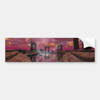 HYPERION WORLD - Temple of Water Car Bumper Sticker