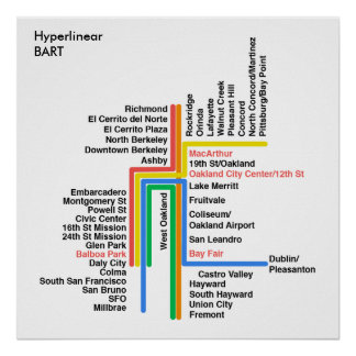 Hyperlinear BART map (white, label) Poster