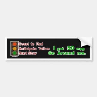 Hypermiler Bumper Sticker Coast Anticipate Start Car Bumper Sticker