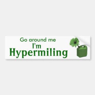 Hypermiling Bumper Sticker I Car Bumper Sticker
