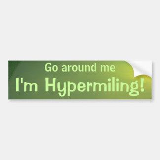 Hypermiling Bumper Sticker II Car Bumper Sticker
