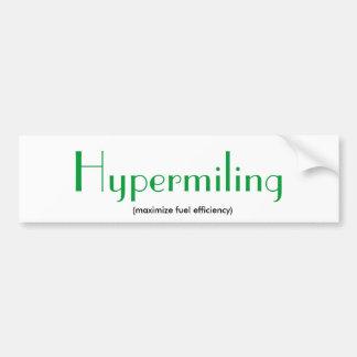 Hypermiling Car Bumper Sticker
