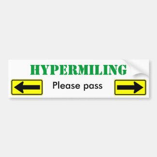 Hypermiling pasa por favor - modificado para requi pegatina para auto