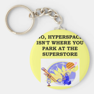 HYPERSPACE.png Basic Round Button Keychain