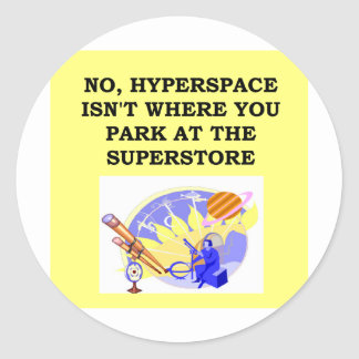 HYPERSPACE.png Classic Round Sticker