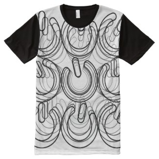 Hyperspace Travel Odyssey in 3D All-Over Print T-shirt