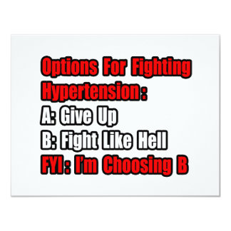 Hypertension Fighting Options Card