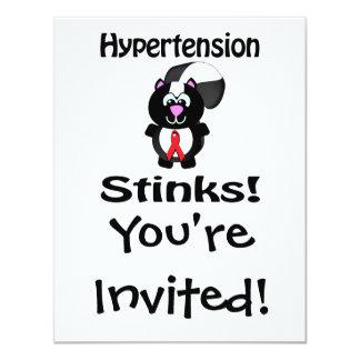 Hypertension Stinks Skunk Awareness Design Card