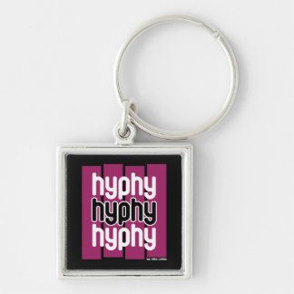 Hyphy Purple Silver-Colored Square Keychain