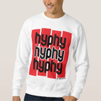 Hyphy Red Pull Over Sweatshirts