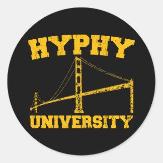 Hyphy University yay area Classic Round Sticker
