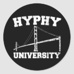 Hyphy University yay area Round Stickers