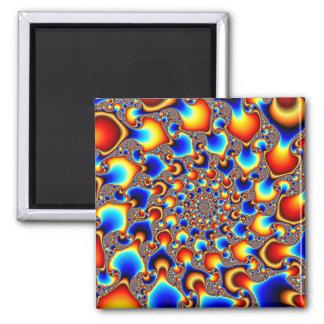 Hypn0sis - Arte del fractal Imán Cuadrado