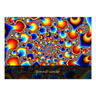 Hypn0sis - Fractal Art Personalized Invitation