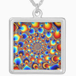 Hypn0sis - Fractal Art Silver Plated Necklace