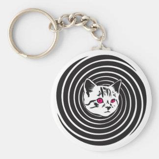 Hypno-Cat Keychain