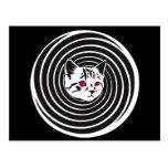 Hypno-Cat Postcard