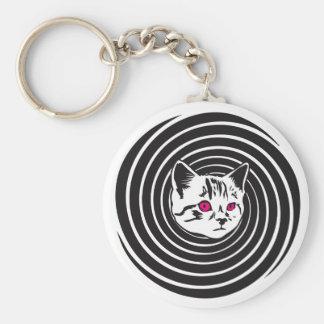 Hypno-Gato Llavero Redondo Tipo Pin