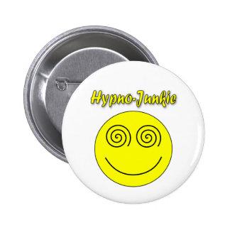 Hypno-Junkie Smiley 2 Inch Round Button