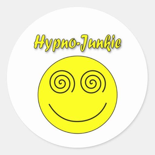 Hypno-Junkie Smiley Sticker