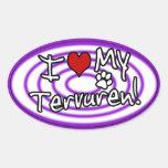Hypno Purple I Love my Tervuren Oval Sticker