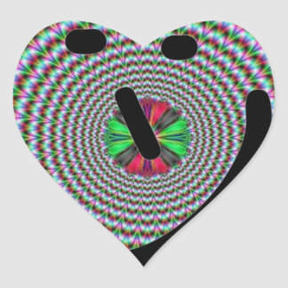 Hypno Starburst Pegatina En Forma De Corazón