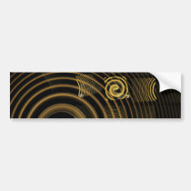 hypnosis, abstract, art, bumper, sticker, Bumper Sticker with custom graphic design