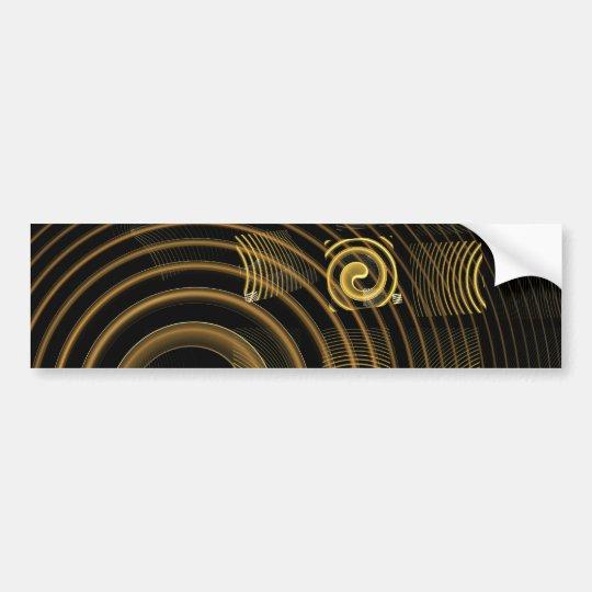 Hypnosis  Abstract Art Bumper Sticker