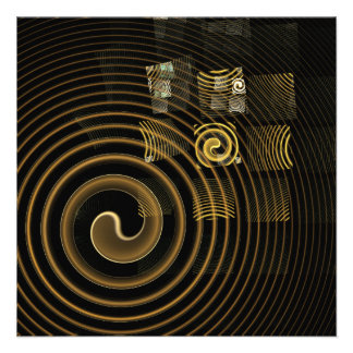 Hypnosis Abstract Art Custom Invites