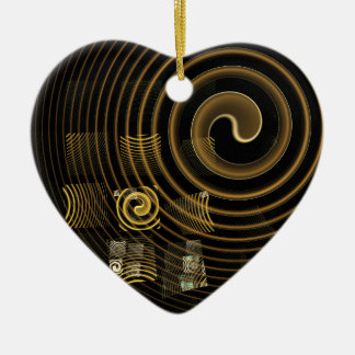 Hypnosis Abstract Art Heart Ornament