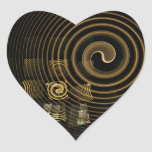 Hypnosis Abstract Art Heart Sticker