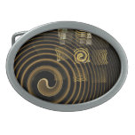 Hypnosis Abstract Art Oval Belt Buckles