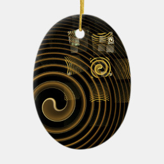 Hypnosis Abstract Art Oval Ornament