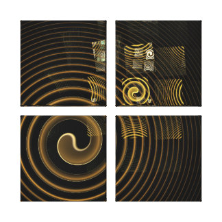 Hypnosis Abstract Art Quad Canvas Print