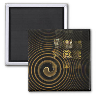 Hypnosis Abstract Art Square Magnet