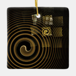 Hypnosis Abstract Art Square Ornament