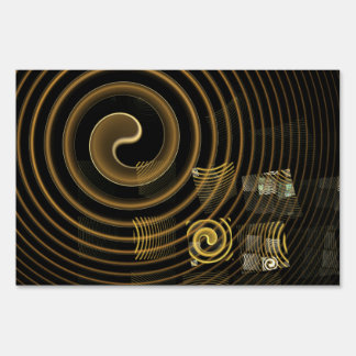 Hypnosis Abstract Art Yard Sign
