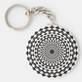 Hypnosis Basic Round Button Keychain
